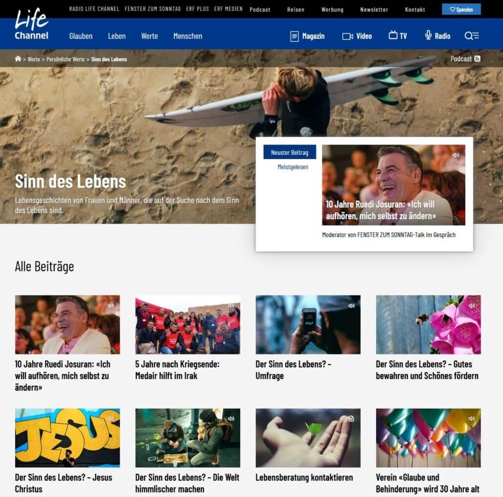 Radio Life Channel: Dossier den Sinn des Lebens suchen, finden, entdecken